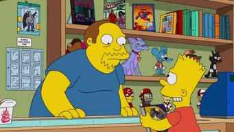 comic book guy doesn't want bart to spoil the movie tile image