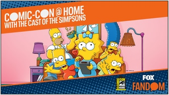 comic-con 2020 @ home: simpsons animation tile image