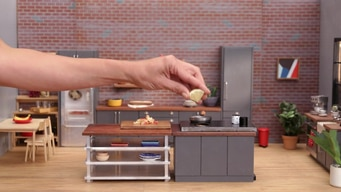 gordon saves the tiny kitchen tile image
