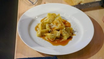 lidia bastianich demonstrates how to make the perfect agnolotti tile image