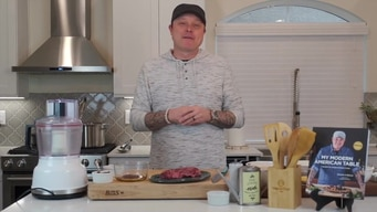 cook #athome with shaun o'neale: hangar steak tile image