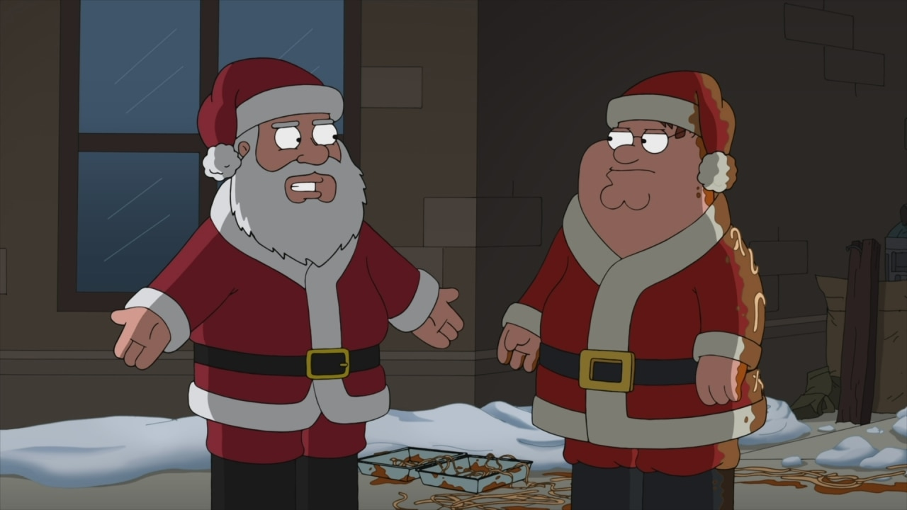 santa threatens peter griffin watch family guy clips at foxcom