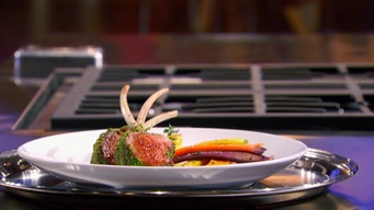 gordon demonstrates how to cook herb crusted rack of lamb tile image