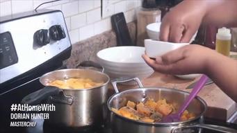 cook #athomewith dorian hunter:  butternut squash tile image