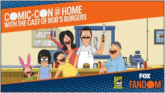 bob's burgers comic-con 2020 @ home panel tile image