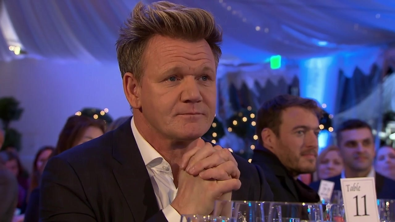 gordon ramsay the contestants attend an award ceremony hells kitchen on national geographic - Hells Kitchen Contestants