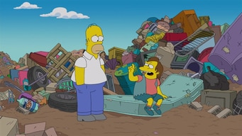 homer talks to nelson at the dump tile image