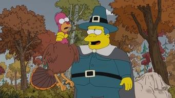 the pilgrims hunt simpsons turkeys tile image
