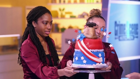 Crime Scene Kitchen S1 Cake Interview With Shania and Hope 2021-07-02