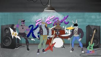 punk rock karate rabbits tile image