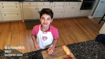 cook #athome with mikey: steak sandwiches tile image