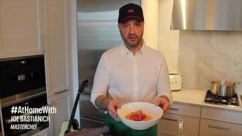 cook #athome with joe bastianich: spaghetti pomodoro tile image