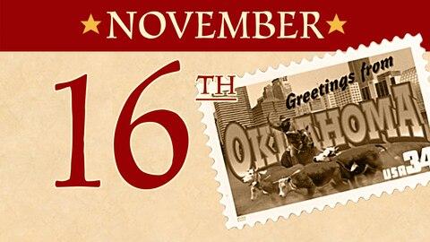 Nov. 16: Oklahoma becomes a state